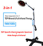 2-in-1 TDP Mineral and Full-infrared Therapy Floor Standing Lamp 220V