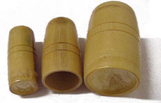 Bamboo Cupping Jars/Sets 3 Cups/Set